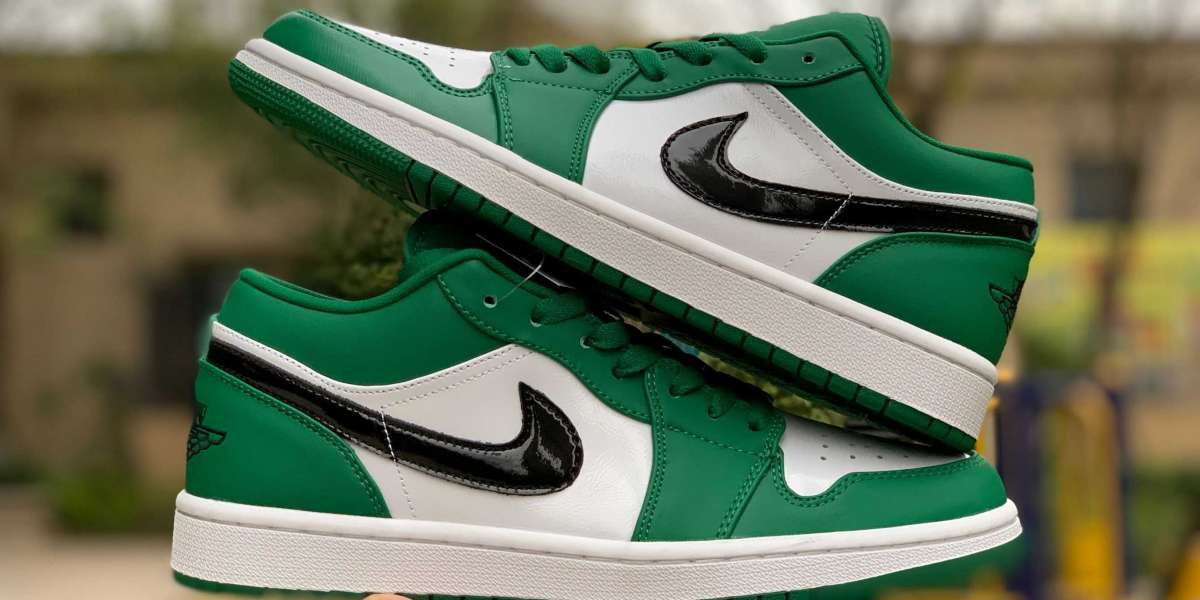 553558-301 New 2020 Air Jordan 1s Low 'Pine Green' Hot Sell  Hot Sell
