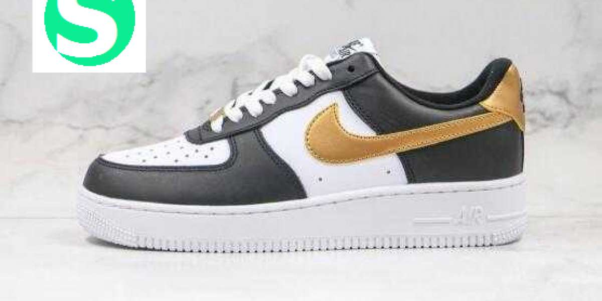 CZ9189-001 Nike WMNS Air Force 1 '07 Black Gold