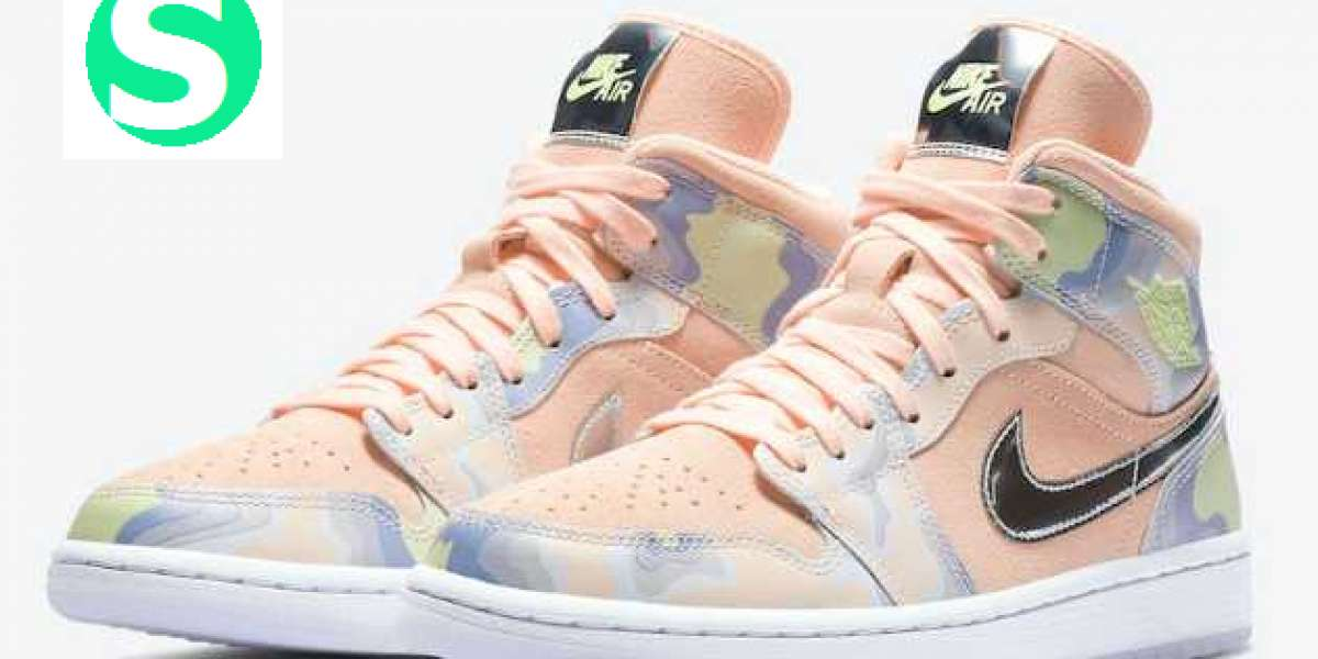 "Air Jordan 1 Mid SE WMNS ""P(Her)spective"" Washed Coral/Chrome-Light Whistle 2020 CW6008-600 For Sale Online"