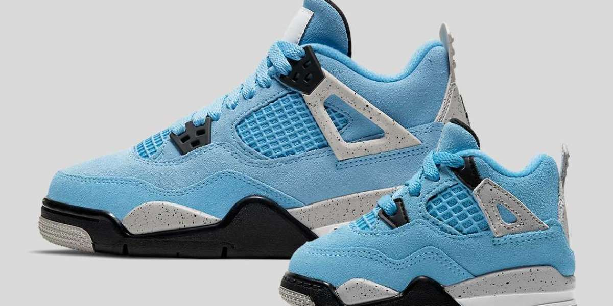 "Air Jordan 4 ""University Blue"" CT8527-400 will soon be available in children's sizes"