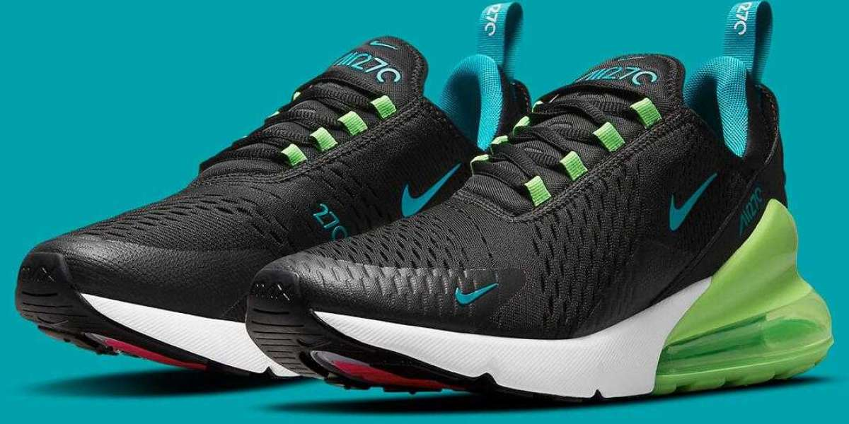 Black Nike Air Max 270 Get Green Strike And Aquamarine Colorway